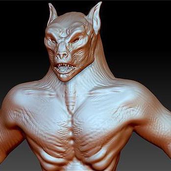 3d sculpt render model reptilian monster creature design