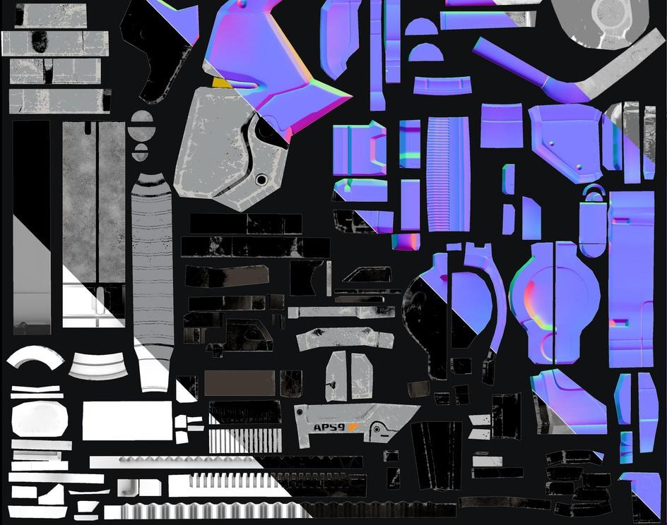 Mass Effect Game-Ready SciFi Shotgun fan artby Alex Martinez Vivo