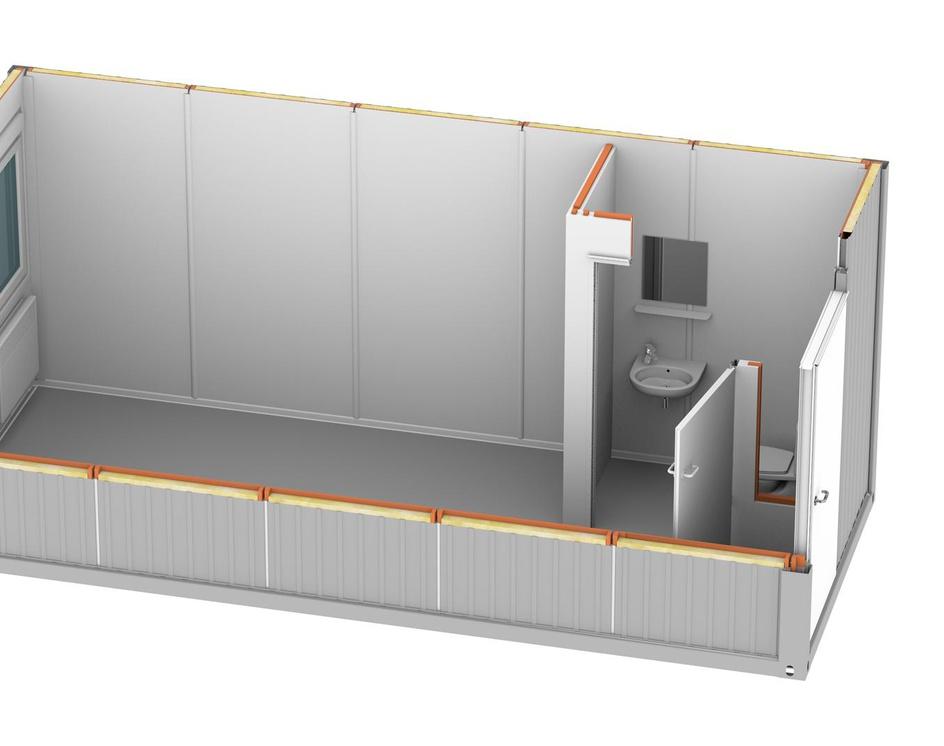 kontener mieszkalny - wnętrze 3dby Zaplecze Graficzne