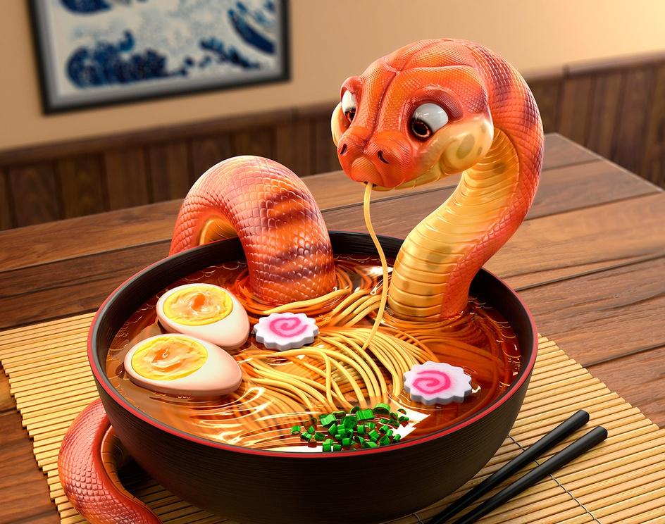 Snake - Danger Noodlesby MichaelSantin