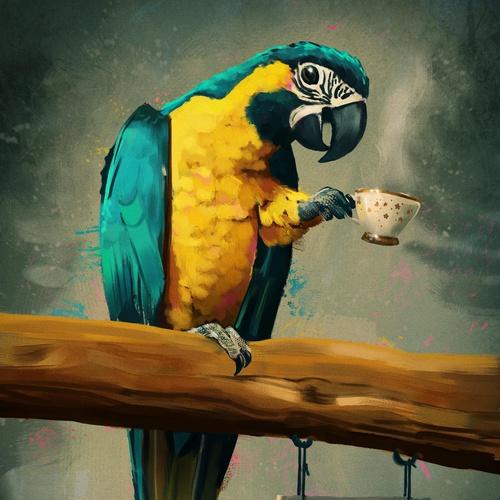 parrot 2d painting digital