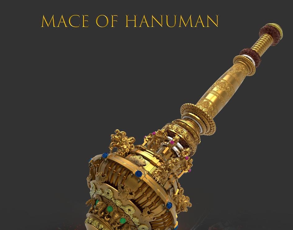 THE MACE OF HANUMAN (indian mythology powerful weapon)by Kallesh Thippeswamy