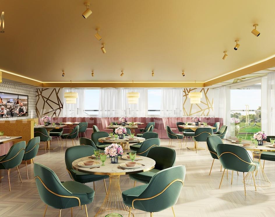 Magnificent Modern Restaurant 3D Interior Designers by Architectural Rendering Company, Paris – Franceby Ruturaj Desai