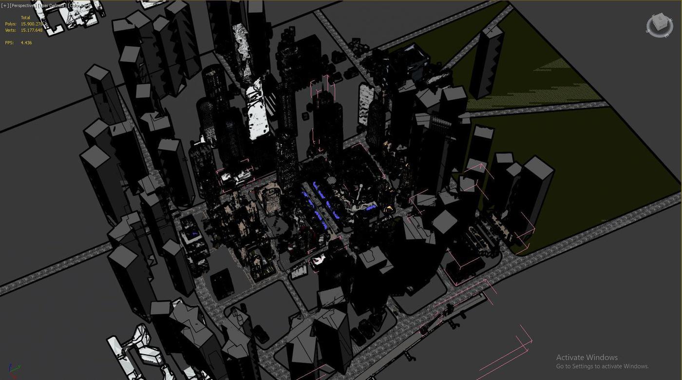 city space environment 3d model