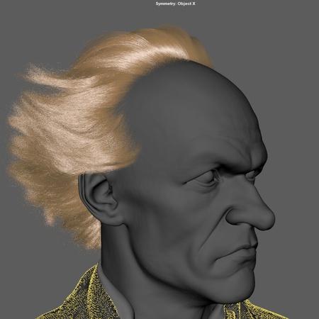 hair head model  lemony snicket 3d character design fantasy book