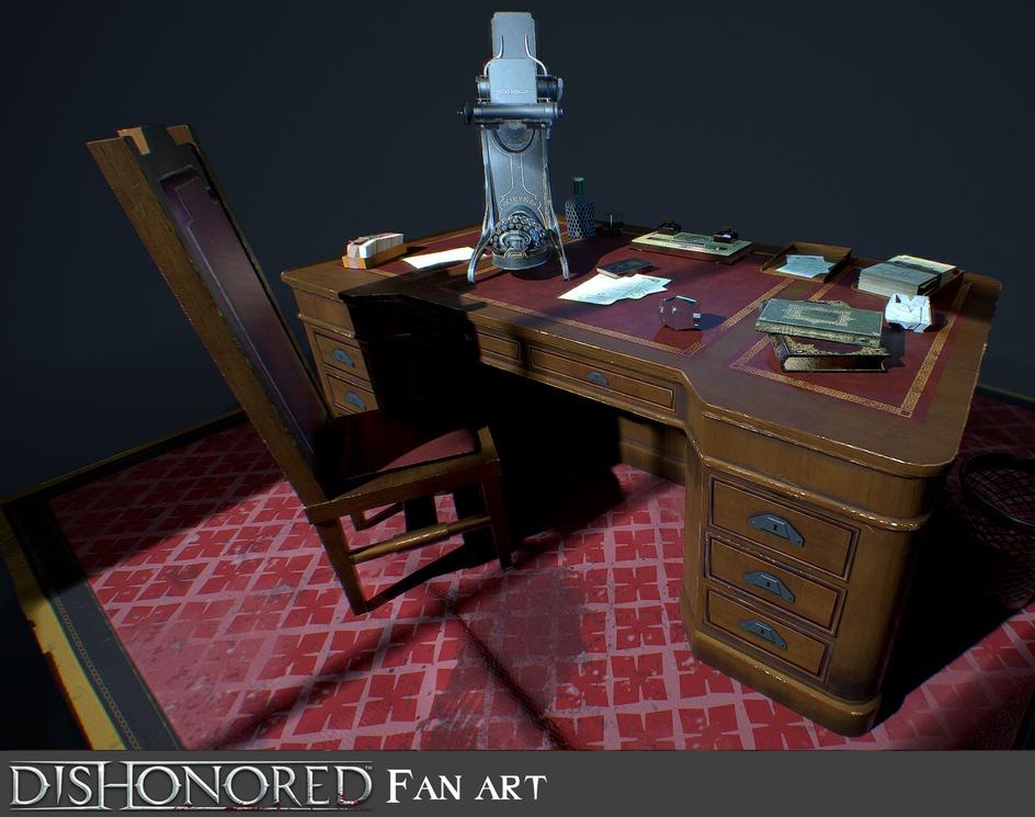 Dishonored fan art - deskby Alina Vilhjalmsdottir