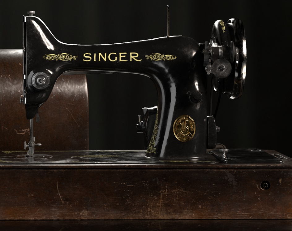 SINGER - Vintage Sewing Machineby Maria Cifuentes