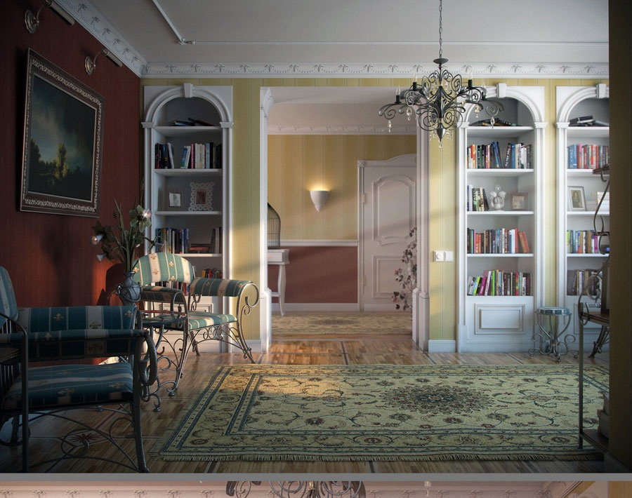 'Interior of the library Provence'by maksimka1980