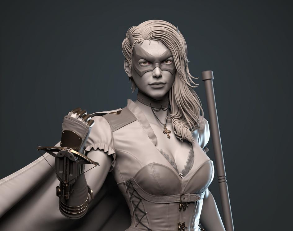 Steampunk Huntress (DC)by Manoj Maharana