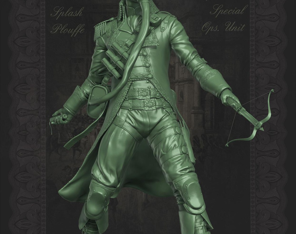 Napoleonic Spec Ops Unit (Zbrush4)by Marco Plouffe