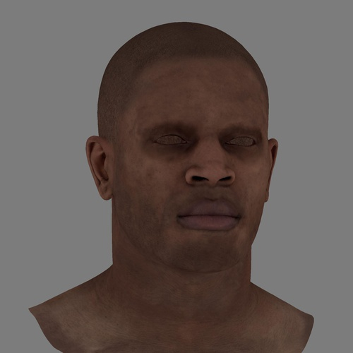 basic face model texturing male