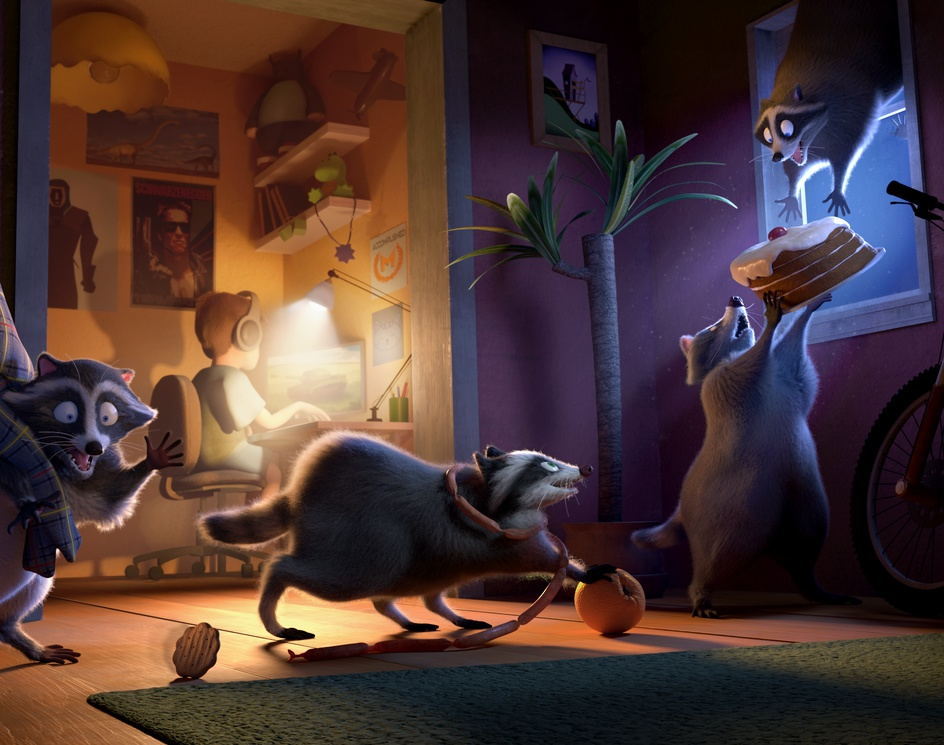 Inglorious Raccoonsby Maria Cifuentes