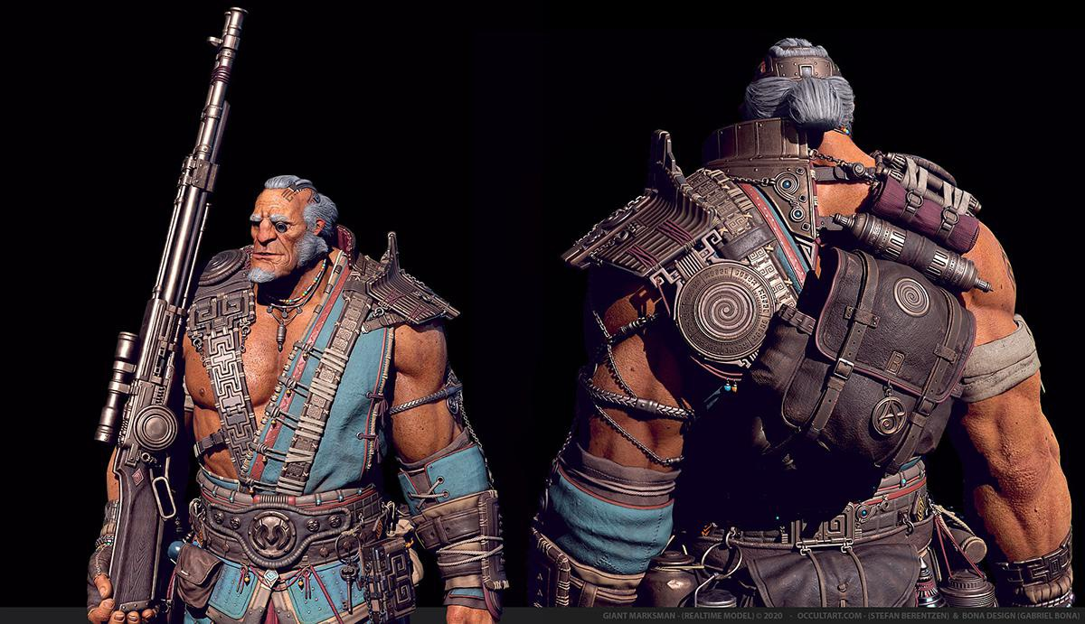 male warrior 3d character design