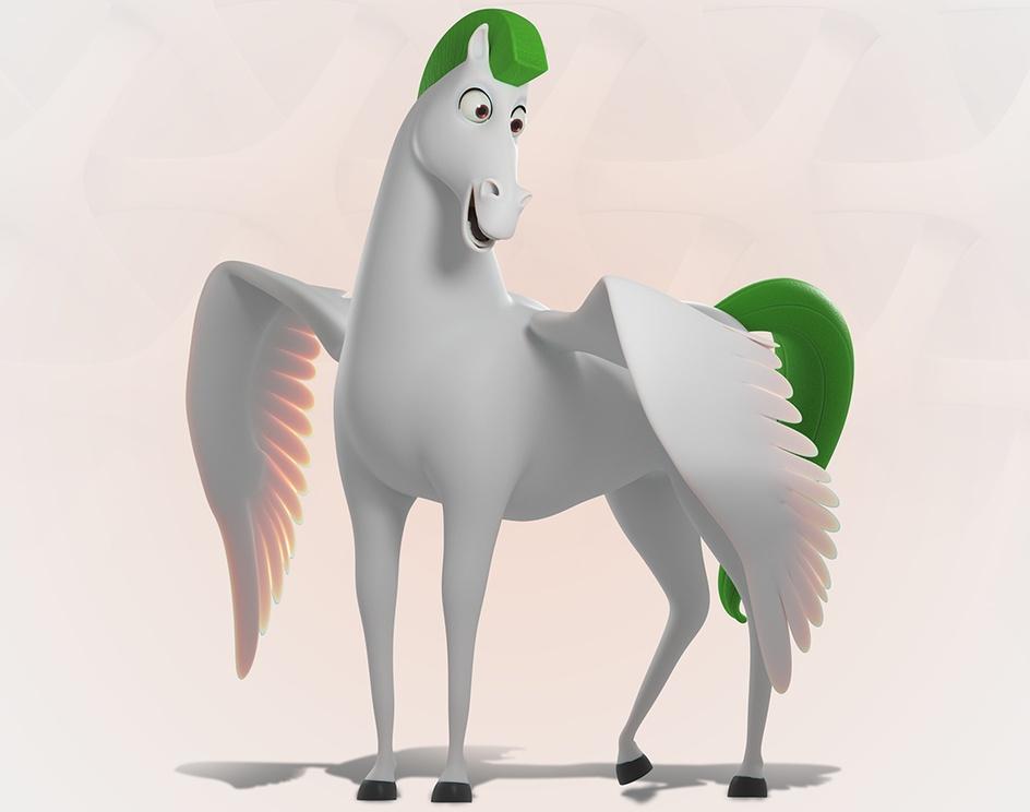 Mascote 3D - Pegasus Monitoramentoby Produtora Movement