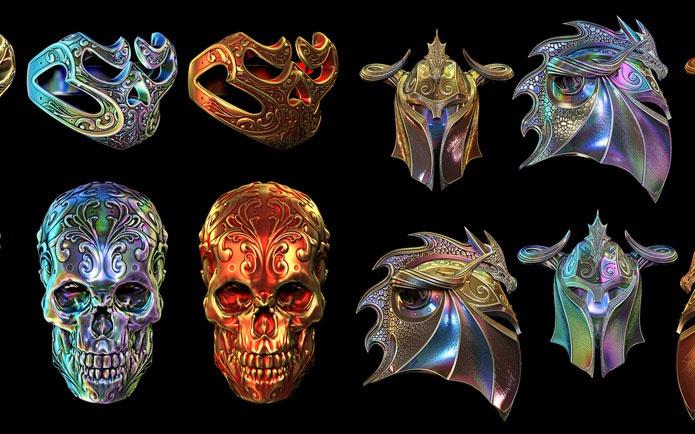 skulls and helmets