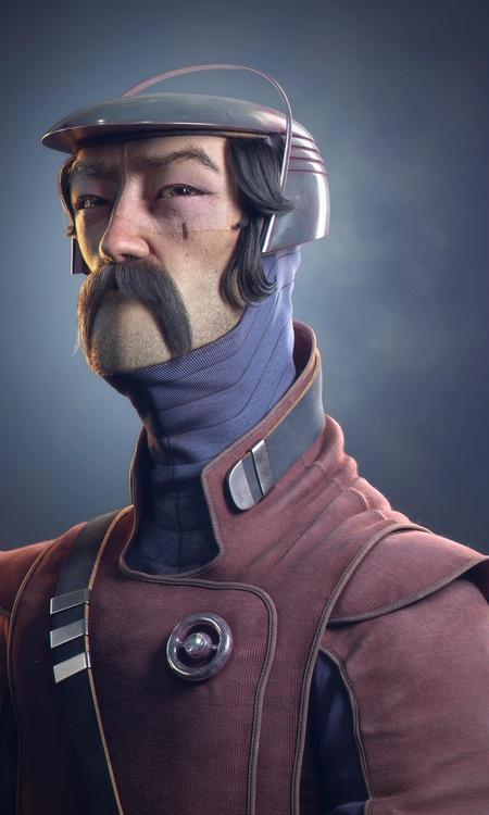 final render  3d model male character design sculpture post-production