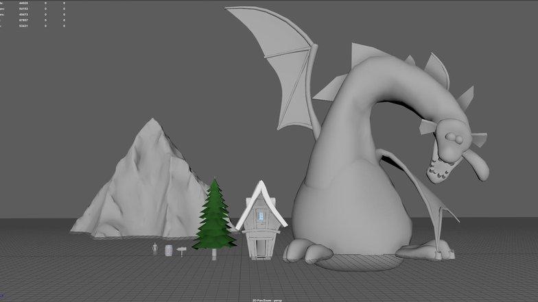 blockout meshes maya 3d model render design