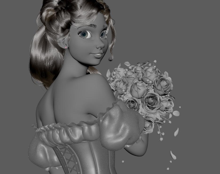 Girl with flowers (Chrissabug DTIYS Challenge)by Ernesto Ruiz Velasco