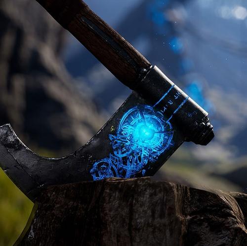 magical viking axe