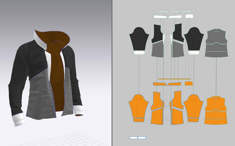cloth detailing mapping uv transferring