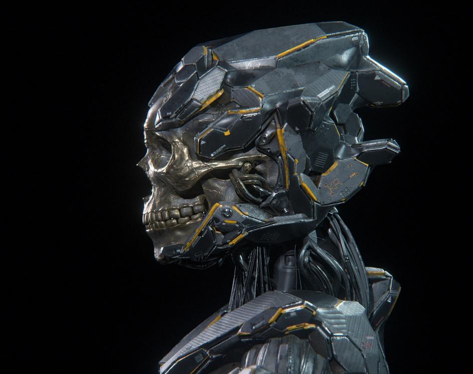 Golden skull EEVEE renderby Hirokazu Yokohara