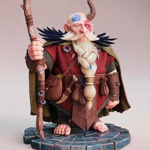 ZBrush sculpting render model man dwarf fantasy character merlin