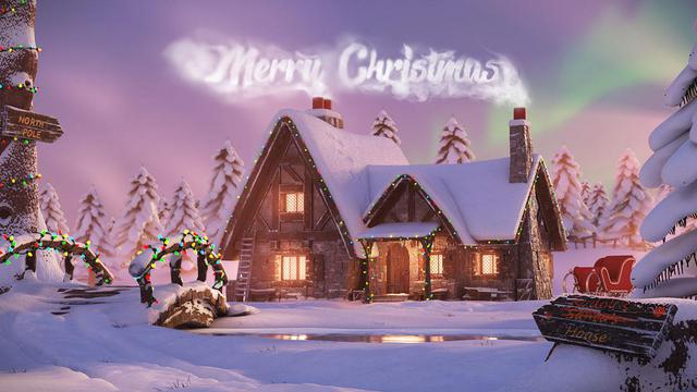 merry christmas character model design
