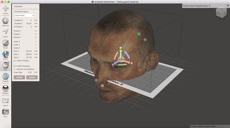 3d head modeling