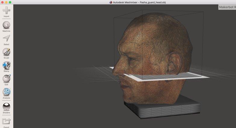 printing 3D head meshmixer