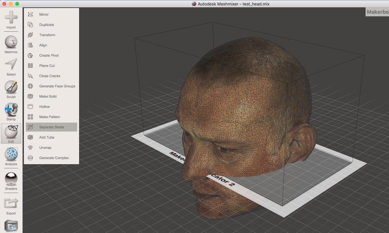 meshimixer 3D head