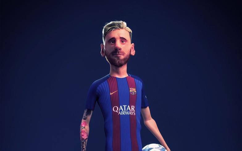Messi, 3d, character design, bcn