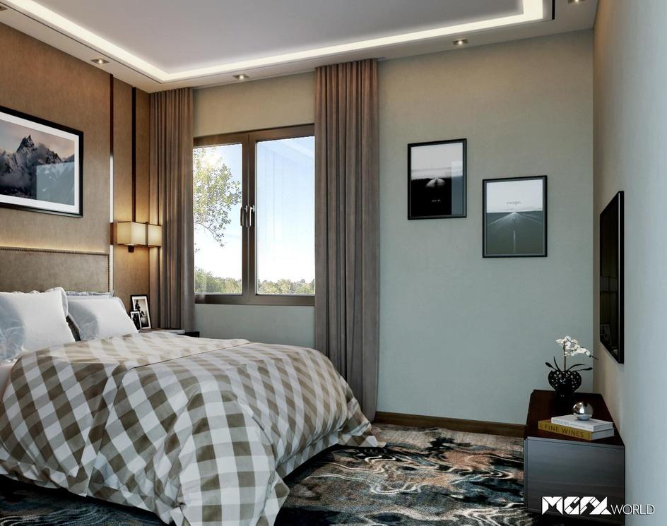 3D Bedroom Renderingby MGFX World