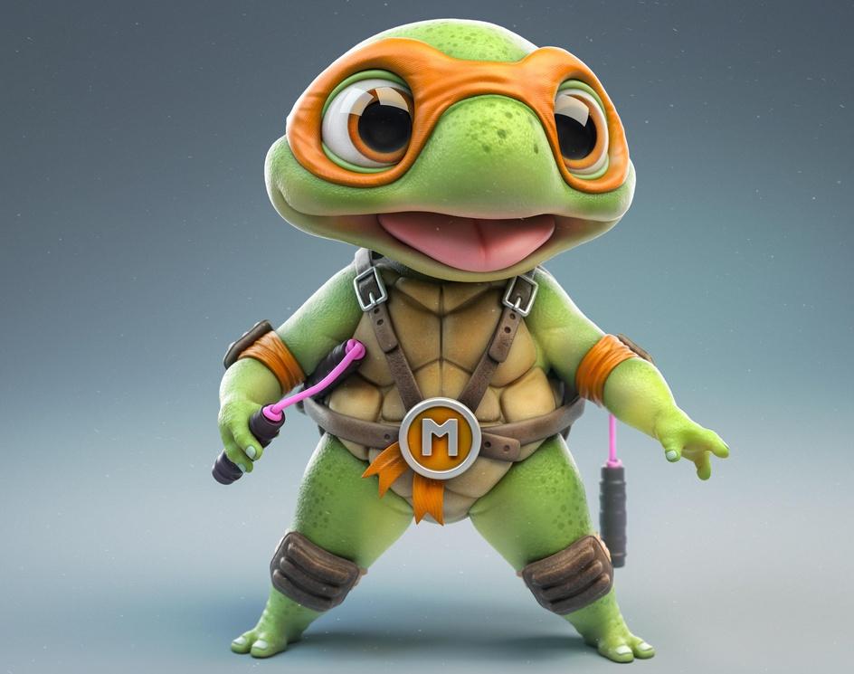 BMNT // Baby Mutant Ninjas Turtlesby Mickael Lelievre