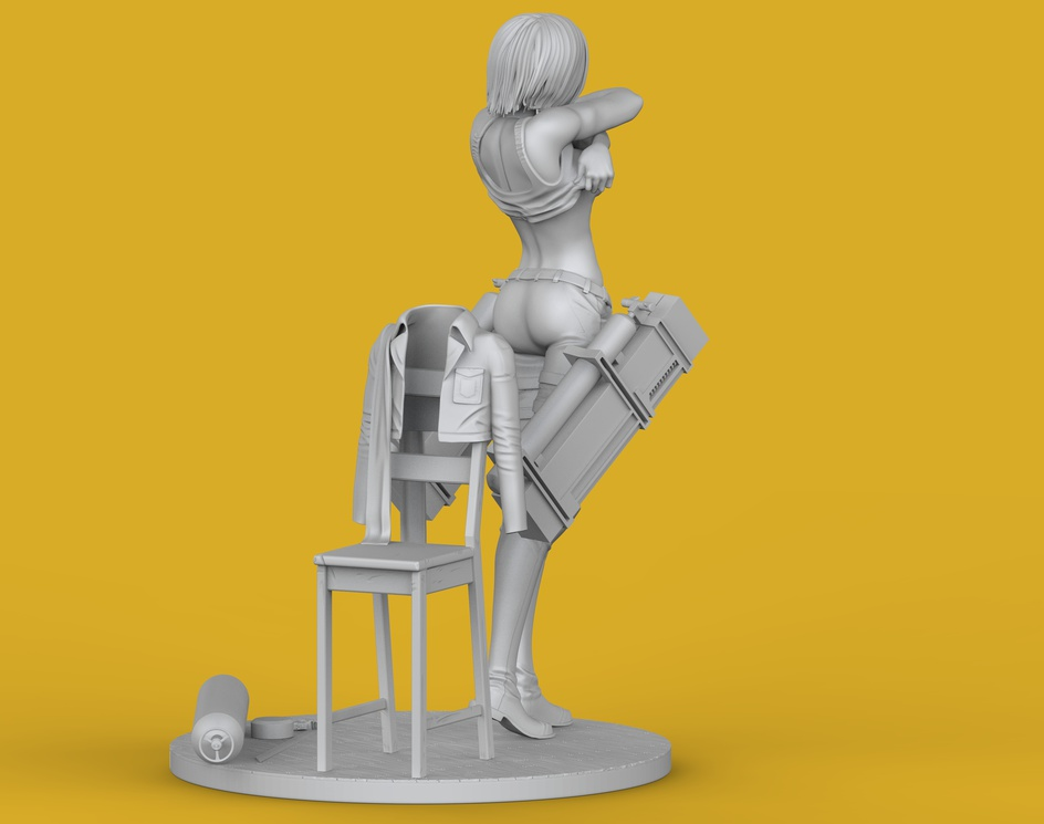 Statue Mikasa Ackermanby Moacirjr