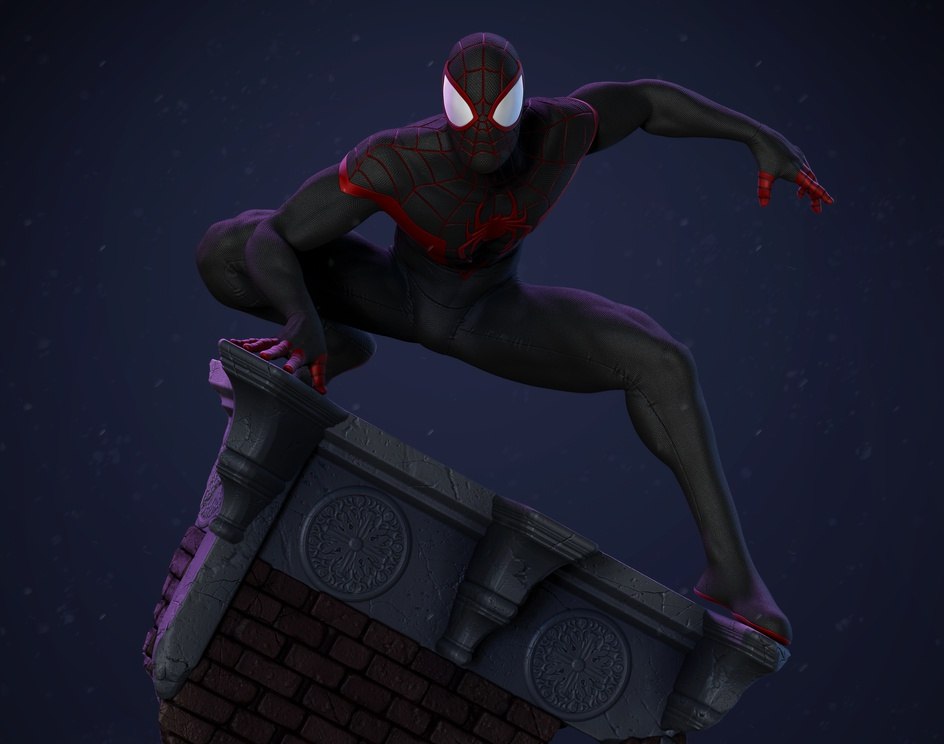 Ultimate Spider-Man Miles Morales - Fan Art Statue 1/6 scaleby Kelvin Nascimento