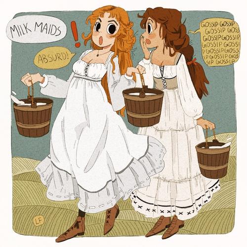talking milkmaids girls