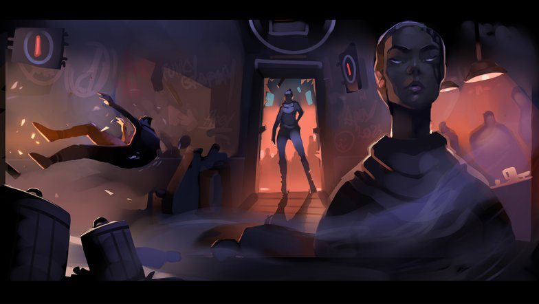 teleporter female character design fantasy sci-fi art