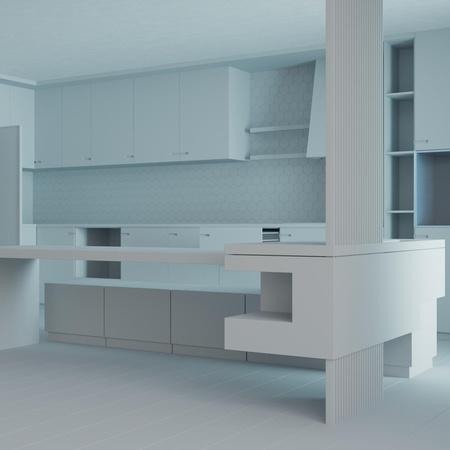 Model Render living room