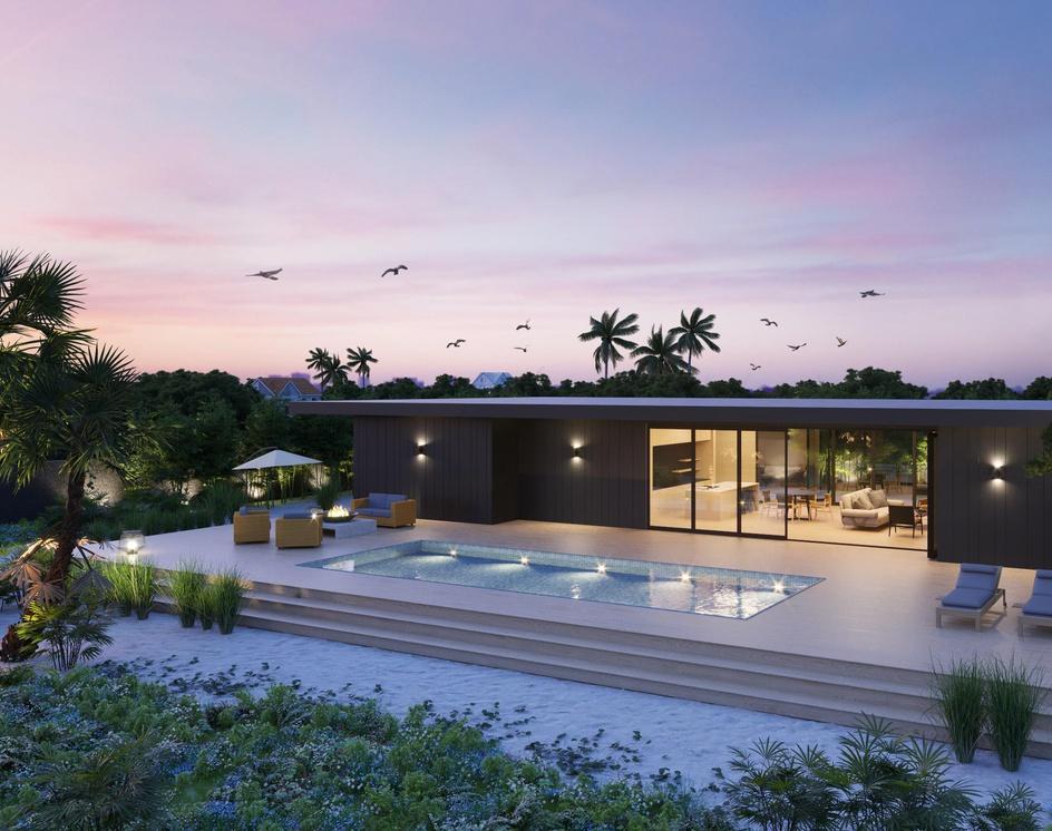 Luxury Pool House in Californiaby DEER Design