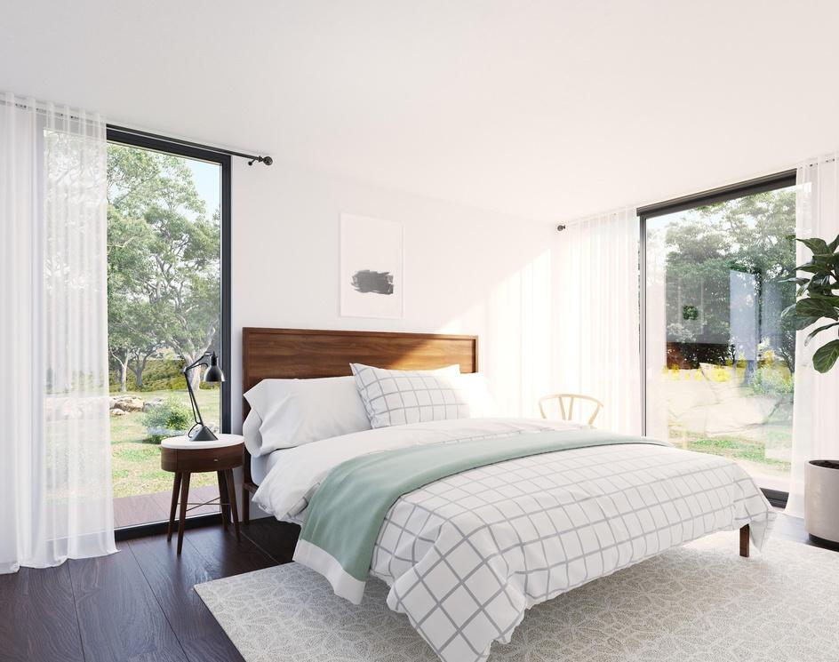 Modern and Minimal Bedroomby DEER Design