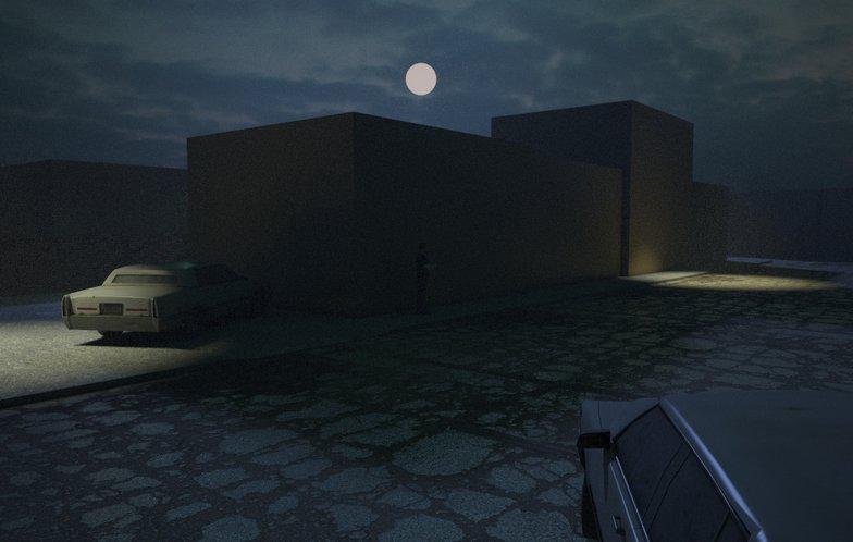 3d buildings moody setting