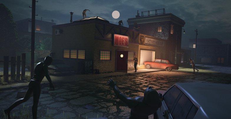3d building rendering zombie poses