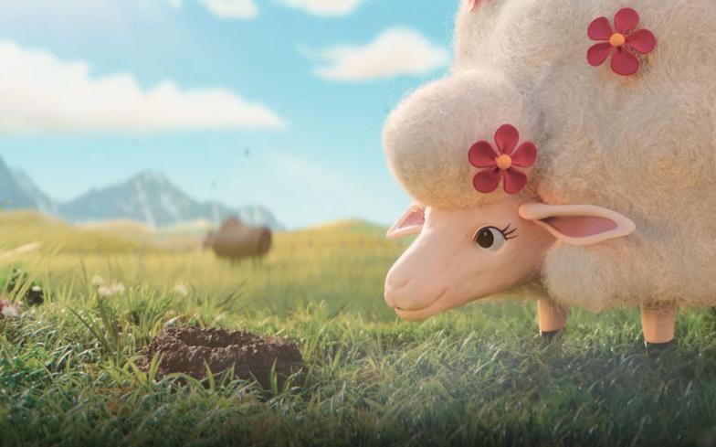 sheep talking to a mole