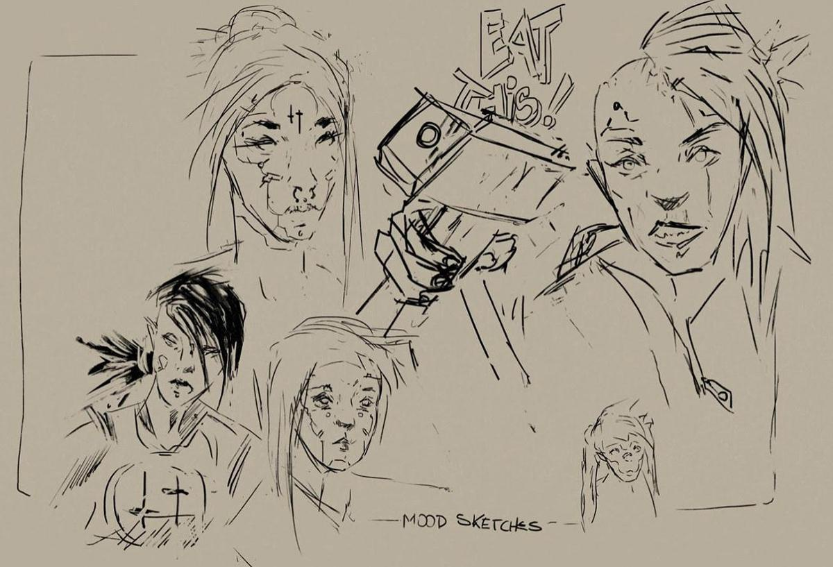 moodboard sketches ink weights