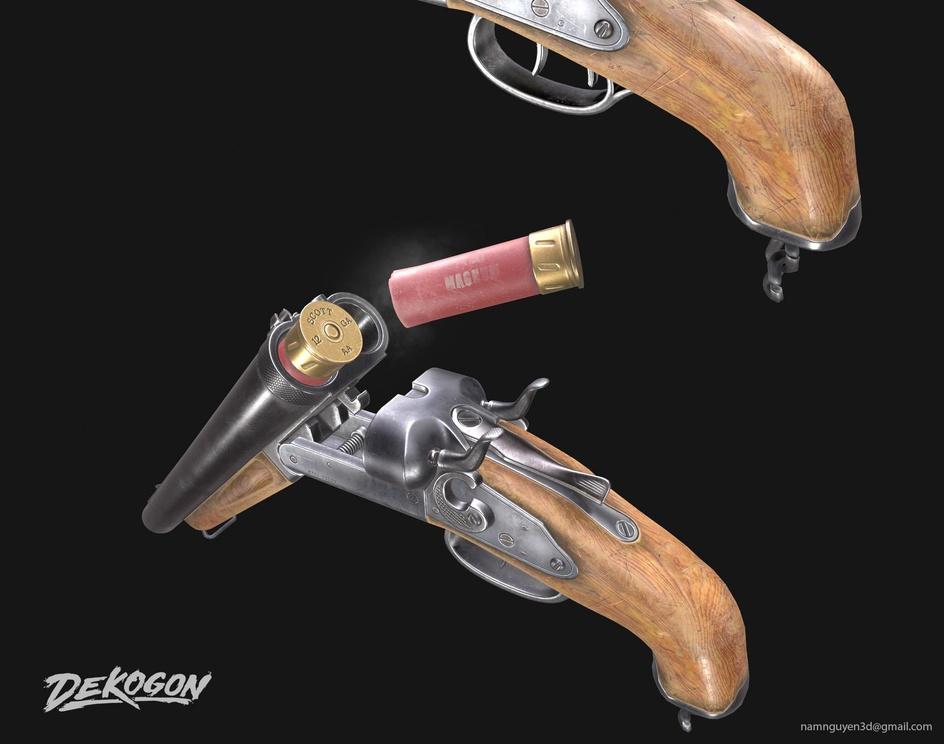 Double barrel shotgunby Nam Nguyen