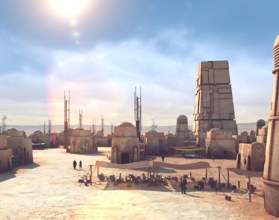 Houdini - procedural town - Mos Eisley (Star Wars) - Shot/Breakdownby Renato Suetake