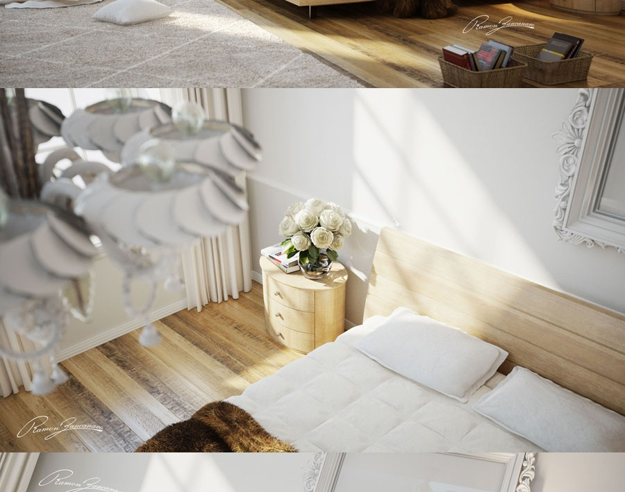 Bedroom white and Woodby mrramonbrazil