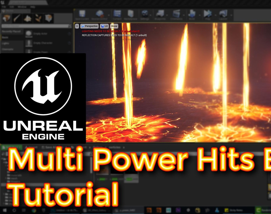 Unreal Engine Multi Power Hits Effect Tutorialby Ashif Ali