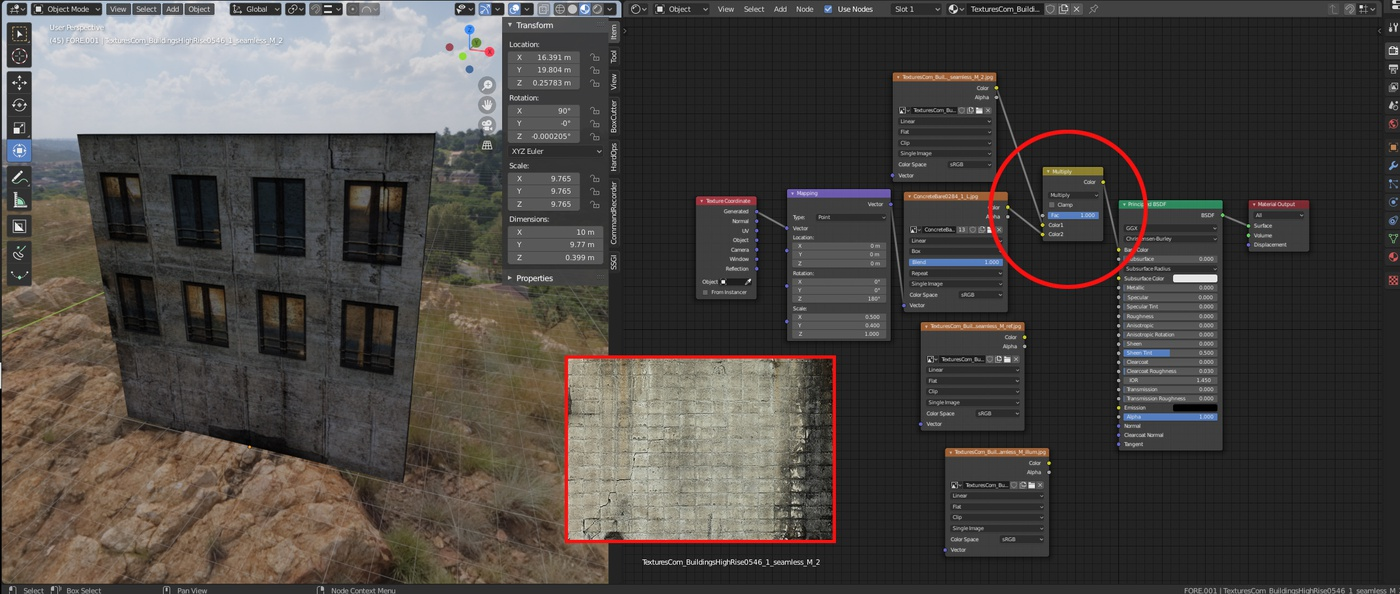 mix rgb overlays dirt textures modelling