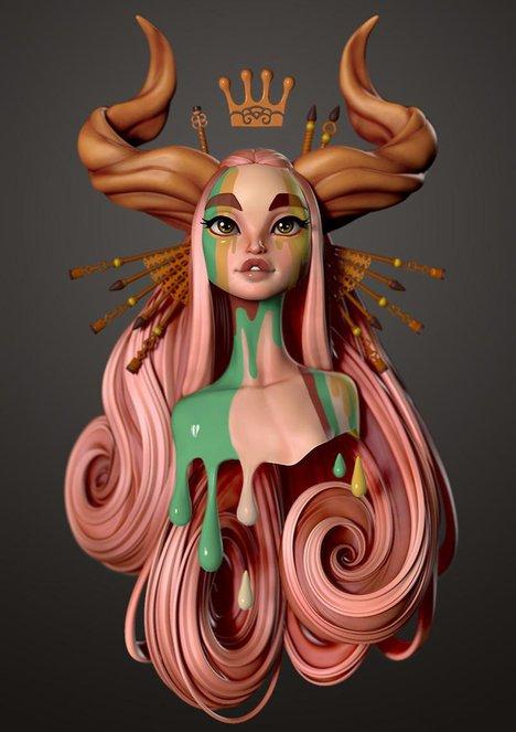 danny mac girl concept jessica madorran 3d